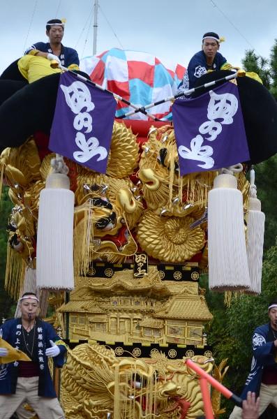 新居浜太鼓祭り 八旗神社かきくらべ 田上太鼓台