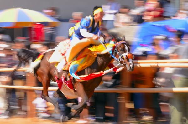 今治市菊間加茂神社 平成24年菊間祭 お供馬の走りこみ
