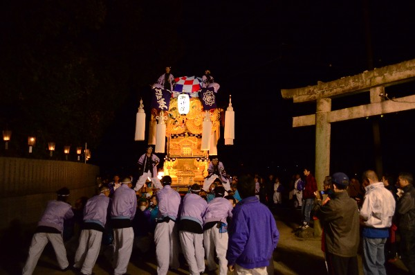 2014年新居浜太鼓祭り 萩岡神社入り 萩生西太鼓台