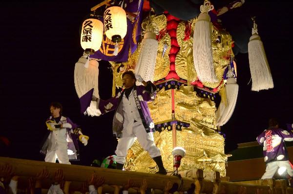 2014年新居浜太鼓祭り フジ東田店夜太鼓 久保原太鼓台