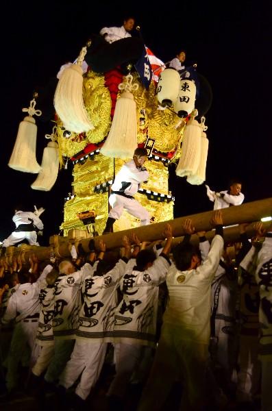 2014年新居浜太鼓祭り フジ東田店夜太鼓 東田太鼓台