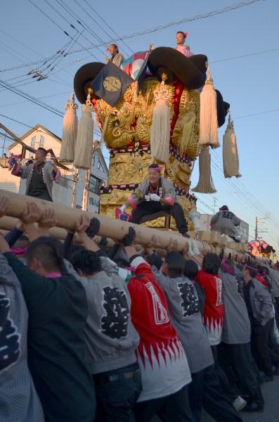 新居浜太鼓祭り 多喜浜駅前 松神子太鼓台
