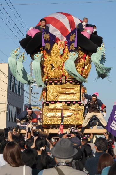 新居浜太鼓祭り 多喜浜駅前 新田太鼓台