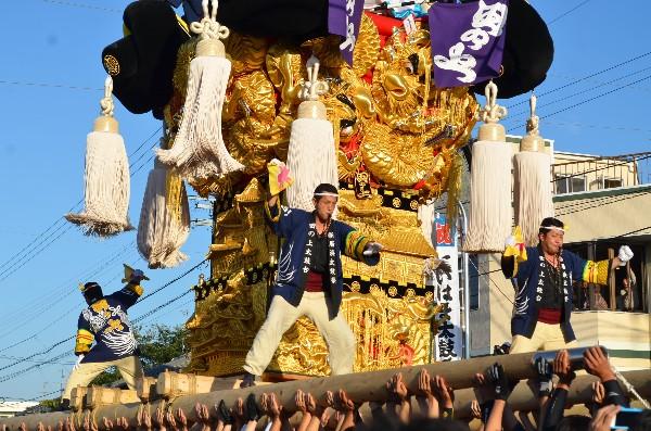 新居浜太鼓祭り 多喜浜駅前 田の上太鼓台