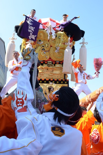 新居浜太鼓祭り 船御幸陸揚げ会場 新須賀太鼓台