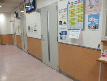 いつもの診察室前です