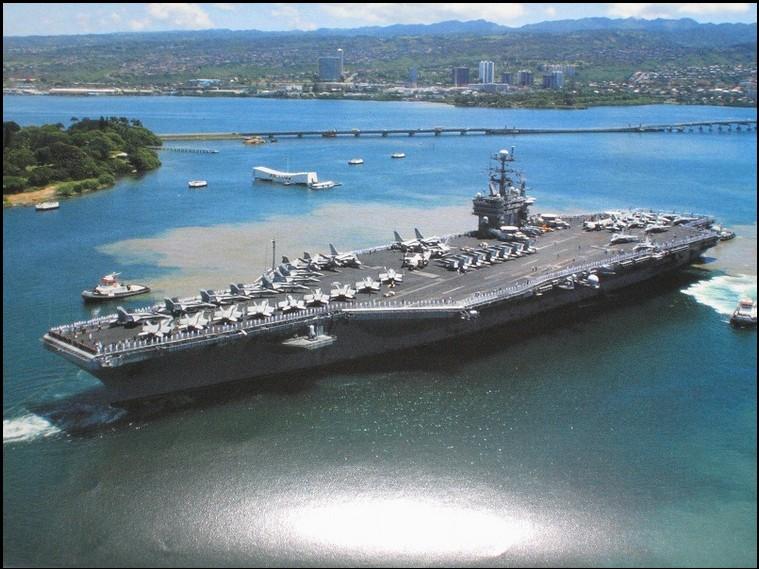 米海軍・原子力空母ジョージ・ワシントン