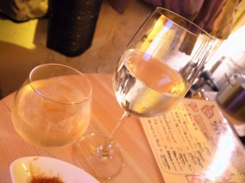 白ワインとサングリア
