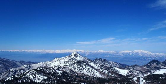 7.横手山から笠ヶ岳と後立・頚城の山々