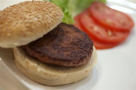 人造肉バーガー