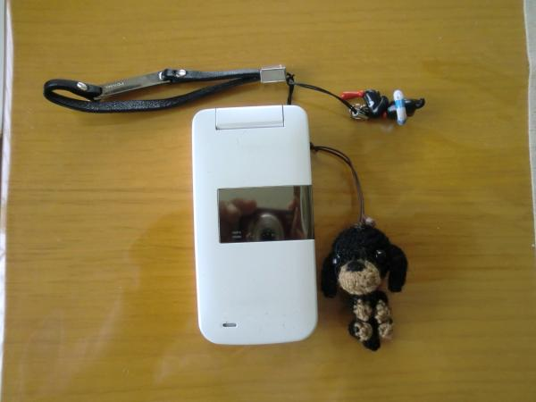 クロちゃんと携帯