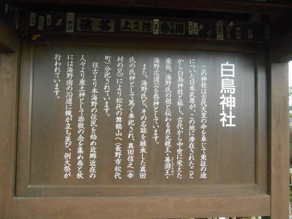 白鳥神社説明板