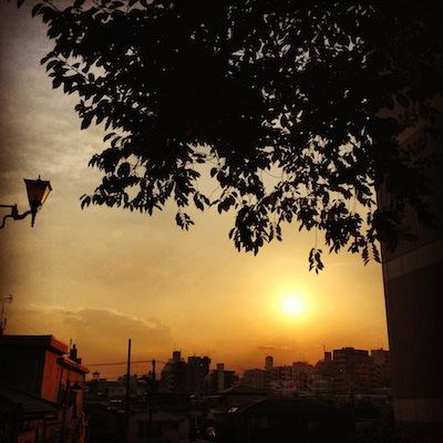 富士見坂夕日