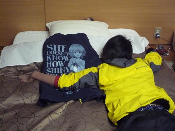 旅館にて、嫁を抱くM。