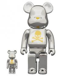 BE@RBRICK mastermind JAPAN CHROME SILVER 100% & 400%