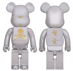 mastermind JAPAN CHROME SILVER BE@RBRICK 1000%