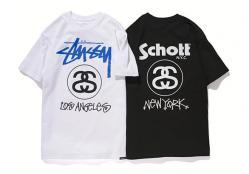 Stussy x Schott Tシャツ