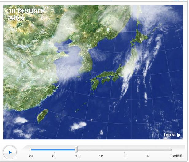 9月5日 関東の雨雲