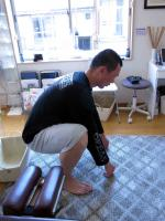 膝を曲げる動作施術後