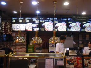seoul 明洞pizzaカウンター