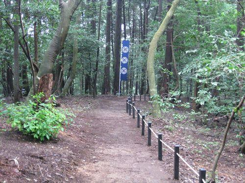 松尾山眺望地 大谷吉継陣跡碑から松尾山眺望地に向かう小道
