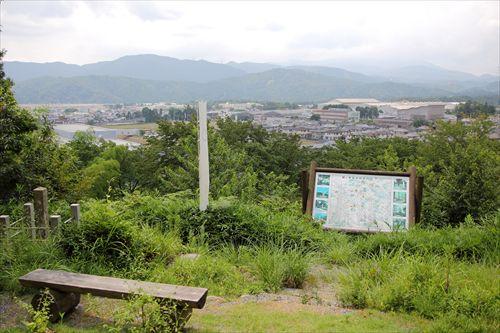 岡山(丸山)烽火場、黒田長政・竹中重門の陣跡