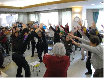 東京都 足立区 老人保健施設(入所・通所・通所リハビリ) 千寿の郷 ゆったり教室2回目
