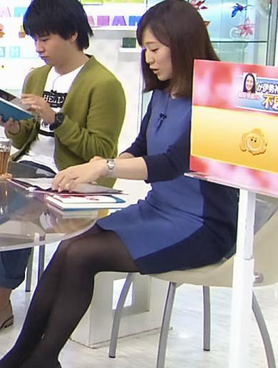 江藤愛 黒ストッキング (はなまるマーケット)
