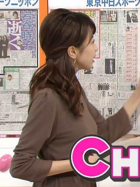 加藤綾子 横乳 (めざましテレビ 20131030)