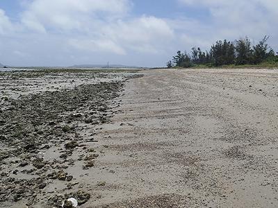 勝連の海岸