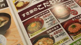すき家、鶏そぼろ丼(並)2