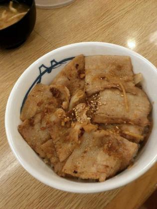 松屋、生姜焼き丼(並)(発売日2013年4月15日(月)2