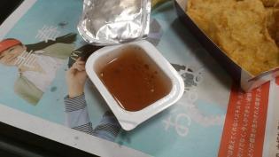 マクドナルド、チキンてりたま、シャカシャカポテトのりしお味(M)、梅ソース5