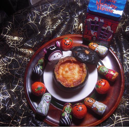 ハロウィン かぼちゃグラタン