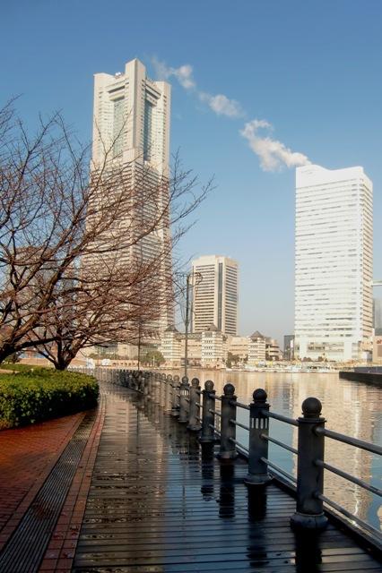 雨上がりの横浜ランドマークタワー