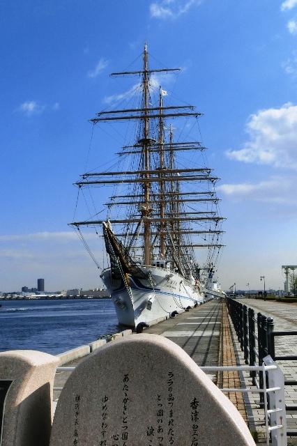 横浜港新港埠頭5号岸壁に係留中の海王丸