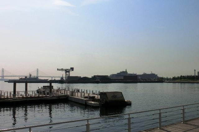 横浜港大さん橋国際客船ターミナルに接岸したダイヤモンド・プリンセス号