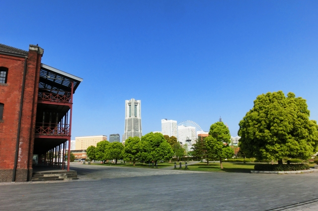 晴れた時の横浜ランドマークタワー