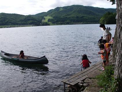 初キャンプ カヌー