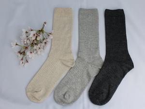 麻綿リブ靴下