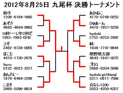 2012年8月25日九尾杯決勝トーナメント