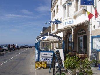 キブロン半島巡り青いさかなが看板のレストランdownsize