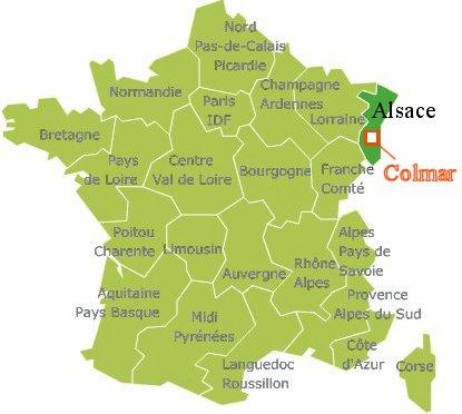 コルマー(Colmar)の場所