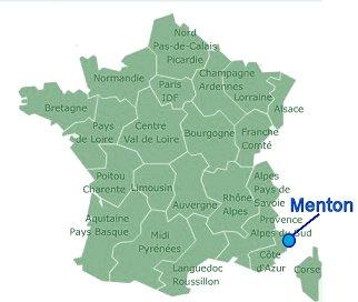 Menton地図