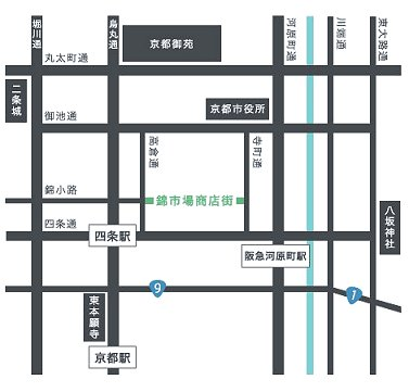 錦小路の地図downsize