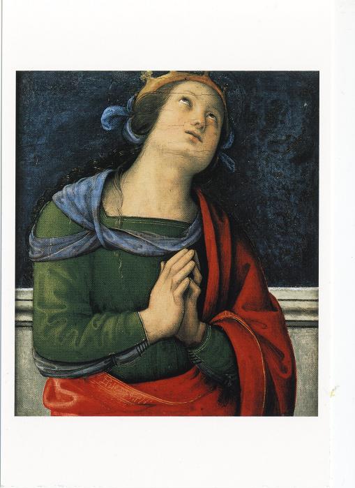 ペルジーノ「聖ユスティナ」