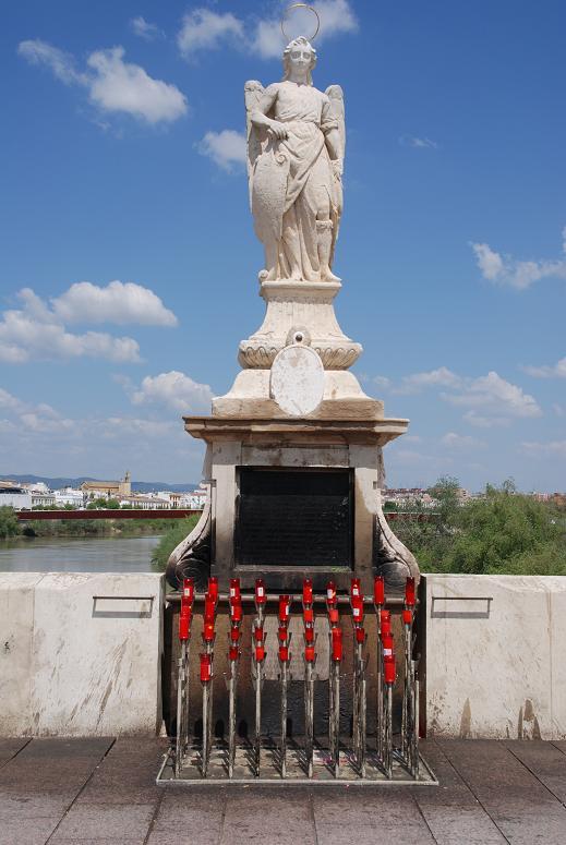 ローマ橋の赤い蝋燭