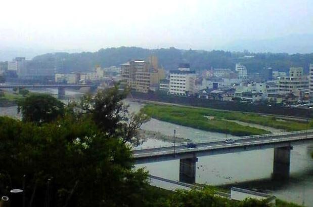 城・人吉城・三の丸跡から見た球磨川と人吉市内
