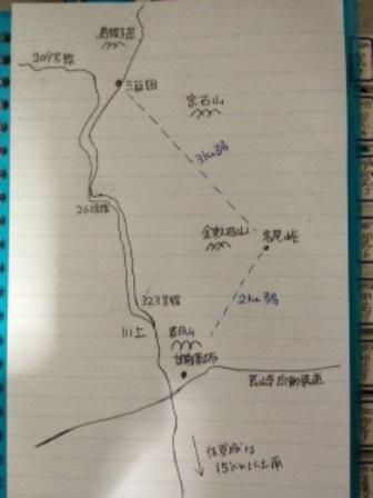地図・名尾峠