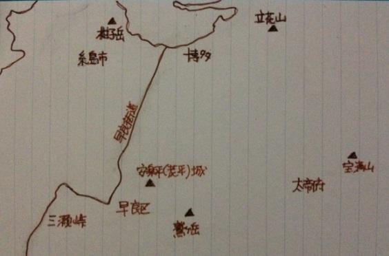 地図・筑前大友五城